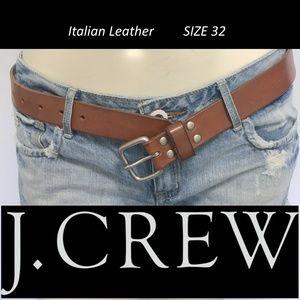 J. CREW Italian Leather belt Natural Saddle 32